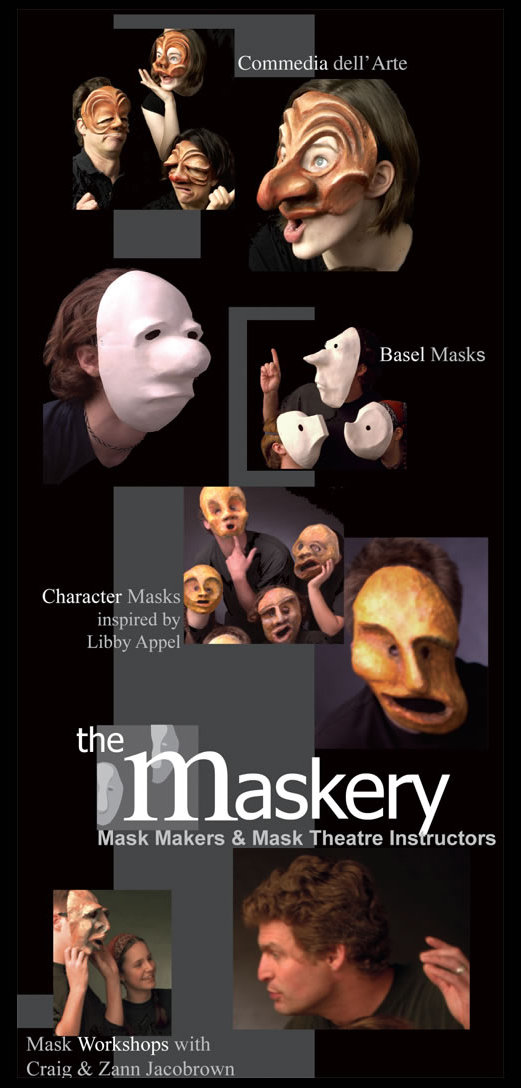 Masks for theater and schools, Commedia dell Arte masks, Japanese masks, Basel masks, Greek masks and Neutral masks